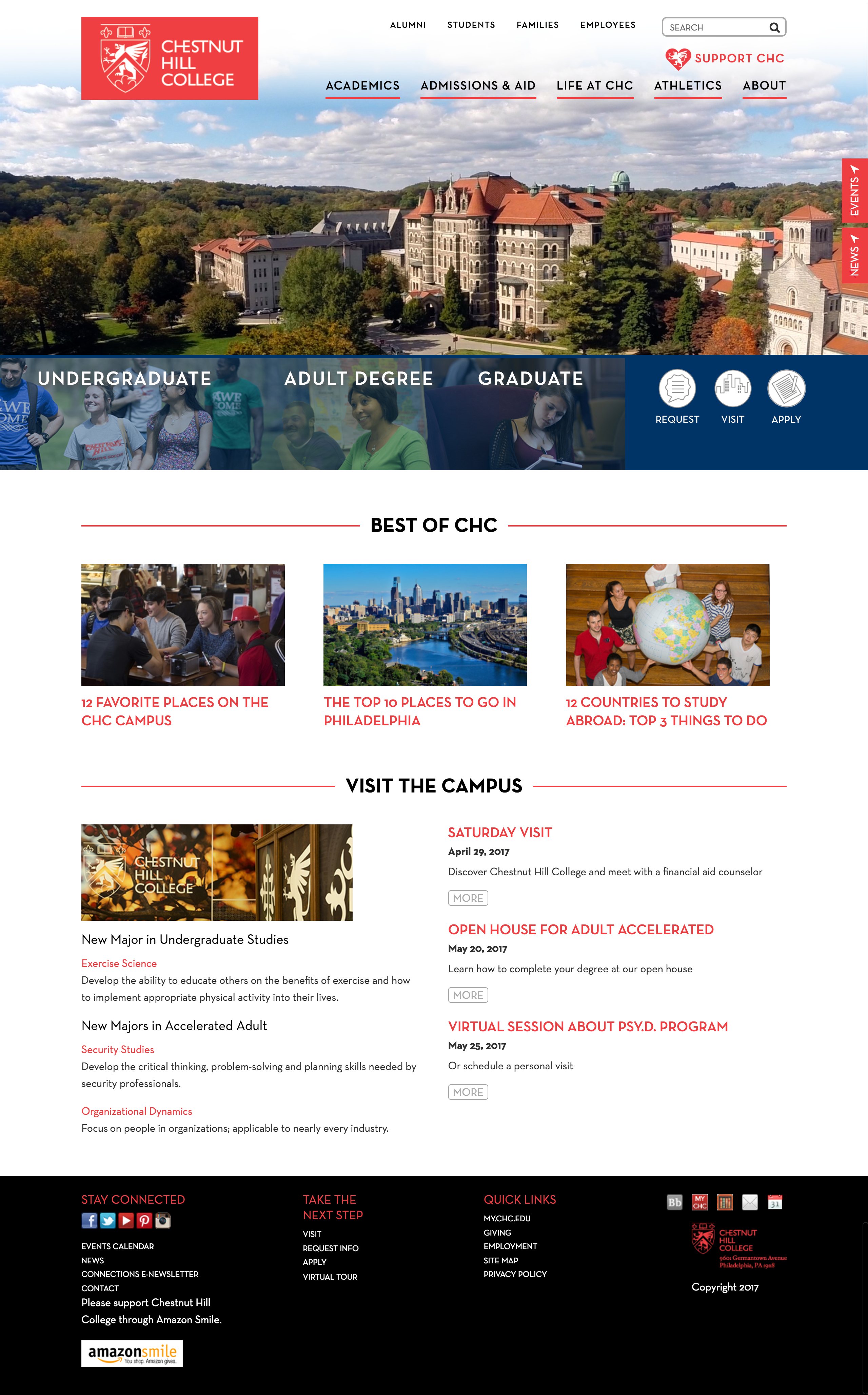 Chestnut Hill College homepage