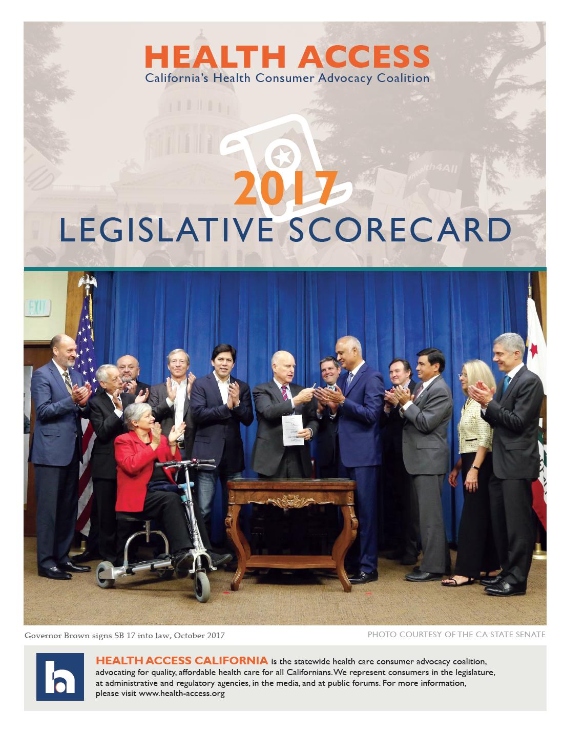2017 Legislative Scorecard